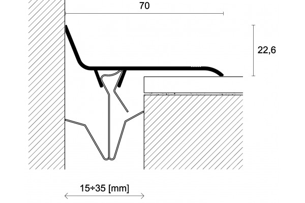 profil angle cuivre joints